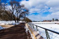 Banki Moskwa rzeka Obraz Stock