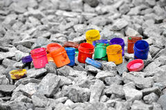 Banki od farba kolorów Zdjęcie Stock