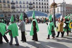 Bankia的马德里拒付 免版税库存图片