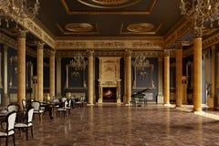 Bankiet sala w klasycznym stylu 3 d czynią ilustracja wektor