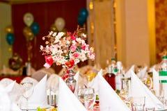 bankieta kwiatów stół Obraz Royalty Free