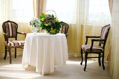 bankieta stół Zdjęcia Royalty Free