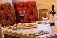 Bankieta stół w restauraci Zdjęcie Stock