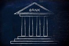 Bankillustration Fotografering för Bildbyråer