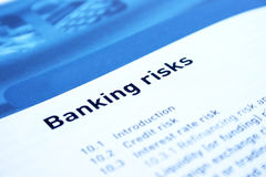 Banking. And finance document,learning objectives Stock Photo