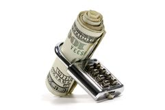 Banking. Photo of a Lock and Money - Banking Concept Royalty Free Stock Image