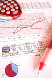 Daily banking. Procedures by checking the figures royalty free stock image