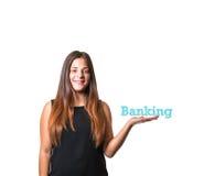 Banking Advertising Model Royalty Free Stock Photo