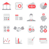 Banking And Finance Flat Icon Set Royalty Free Stock Images