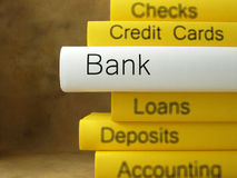 Banking books related Royalty Free Stock Images