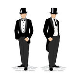 Banking business concept silhouette of a gentleman in a tuxedo Stock Images