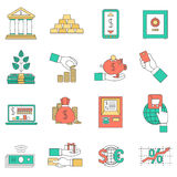 Banking business icons set Royalty Free Stock Image