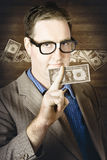 Banking business man with American money Stock Photos