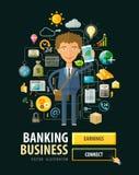 Banking business vector logo design template. Bank Royalty Free Stock Photo