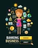 Banking business vector logo design template Royalty Free Stock Photos