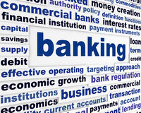 Banking business words conceptual design Royalty Free Stock Photography