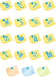 Banking Buttons - Sticky. Set of 16 banking themed buttons - sticky note style Stock Photography
