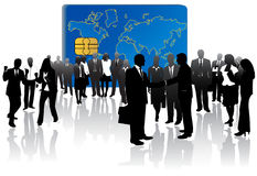 Banking card and business peop Stock Images