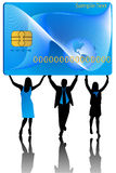 Banking card and business people Royalty Free Stock Image