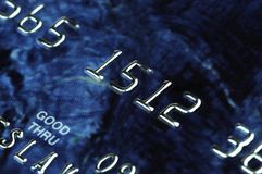 Banking card in macro Royalty Free Stock Image