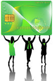 Banking card and people Stock Image
