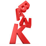 Banking collapse Royalty Free Stock Photo