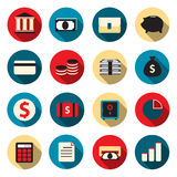 Banking color icons. Vector illustration Stock Photo