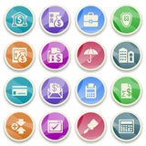 Banking color icons. Royalty Free Stock Photos