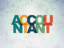Banking concept: Accountant on Digital Data Paper background. Banking concept: Painted multicolor text Accountant on Digital Data Paper background Royalty Free Stock Images