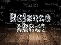 Banking concept: Balance Sheet in grunge dark room Royalty Free Stock Photo