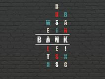 Banking concept: Bank in Crossword Puzzle Stock Photography