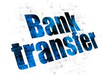 Banking concept: Bank Transfer on Digital background. Banking concept: Pixelated blue text Bank Transfer on Digital background Royalty Free Stock Photo