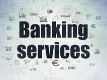 Banking concept: Banking Services on Digital Data Paper background Royalty Free Stock Images