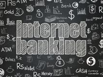 Banking concept: Internet Banking on School board background. Banking concept: Chalk White text Internet Banking on School board background with  Hand Drawn Stock Images