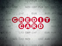 Banking concept: Credit Card on Digital Paper Royalty Free Stock Photo