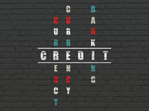 Banking concept: Credit in Crossword Puzzle Royalty Free Stock Image