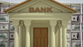 Banking concept 3D stock video
