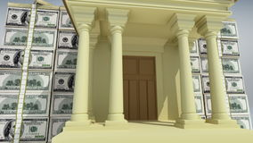 Banking concept 3D stock footage