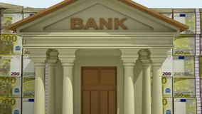 Banking concept 3D stock video footage