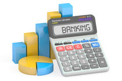 Banking concept, 3D rendering. On white background Stock Image