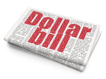 Banking concept: Dollar Bill on Newspaper Stock Photo