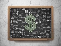 Banking concept: Dollar on School board background Stock Photography