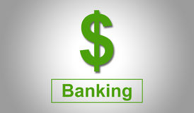 Banking concept with dollar sign Stock Photo