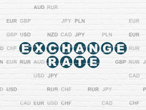Banking concept: Exchange Rate on wall background Stock Images