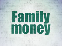 Banking concept: Family Money on Digital Paper Stock Photos