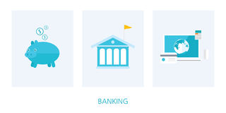 Banking concept flat design Stock Photography