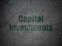 Banking concept: Capital Investments on grunge wall background Stock Photo