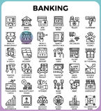 Banking concept icons Royalty Free Stock Photography