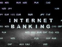 Banking concept: Internet Banking in grunge dark Royalty Free Stock Photos