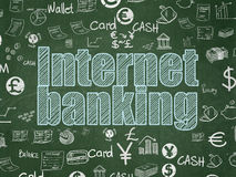 Banking concept: Internet Banking on School board background Stock Image